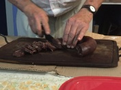 Chopping morcilla
