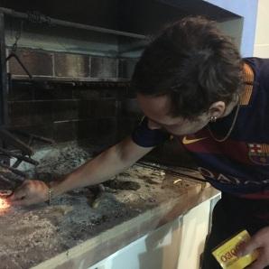 Lighting the BBQ